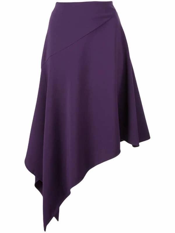Asymmetrical Hem Skirt