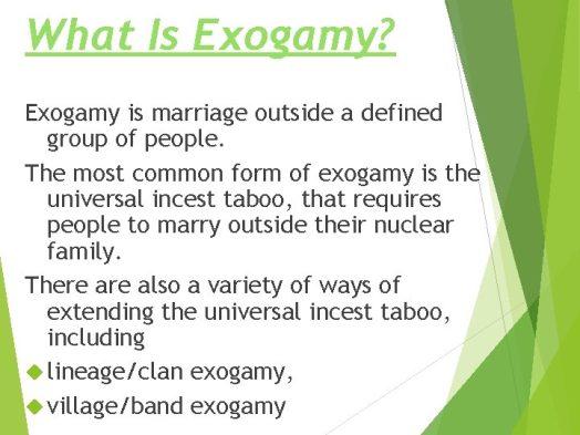 Exogamous Marriage