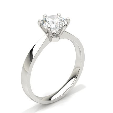 Plain Solitaire Ring