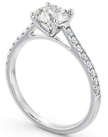 Side Stone Solitaire Ring