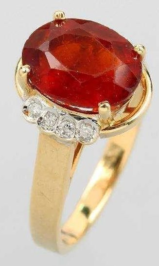 Single Colored Stone Ring
