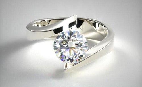 Suspended Diamond Ring