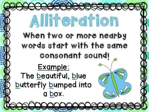 Alliteration Figurative Language