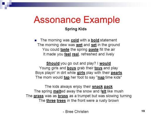 Assonance Figurative Language
