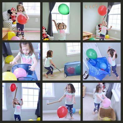 Balloon Tennis or Balloon Volleyball