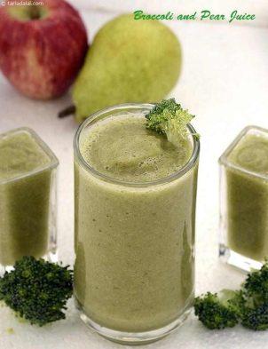 Broccoli And Pear Juice