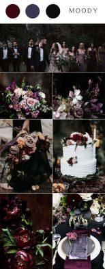 Chic Moody Colors Wedding Theme