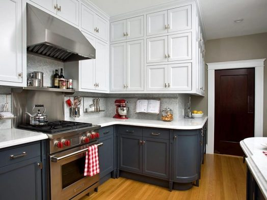 Contrast Color Cabinet