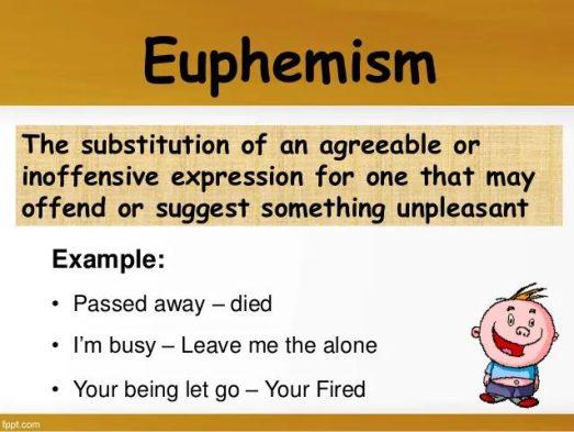 Euphemism Figurative Language