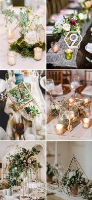 Floral Geometric Style Wedding Theme