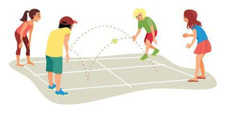 Four Square Outdoor Game