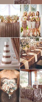 Glitter and Gold Wedding Theme