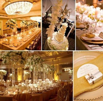 Go Gold Wedding Theme