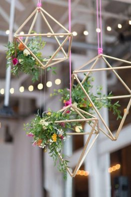 Himmeli and Terrarium Decor Wedding Theme