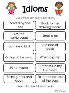 Idiom Figurative Language