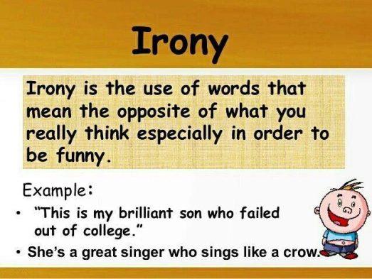 Irony Figurative Language