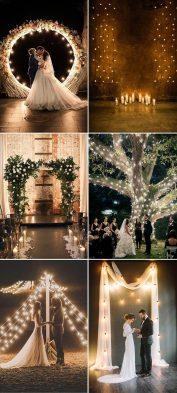 Light It Up Wedding Theme