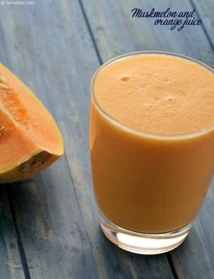 Muskmelon And Orange Juice