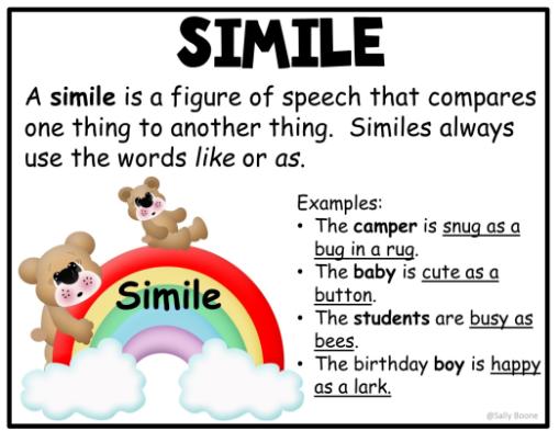Simile Figurative Language