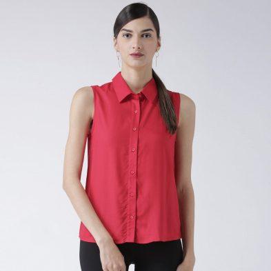 Sleeveless Shirt Top