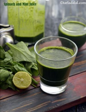 Spinach And Mint Juice