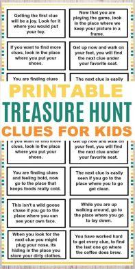 Treasure Hunt With Clues